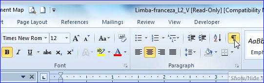 Structura unui document Word dans Trucuri de efect pentru un document perfect afis-caractere2