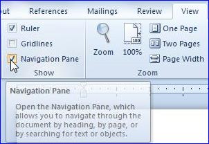 navigat-pane nivel dans Trucuri de efect pentru un document perfect