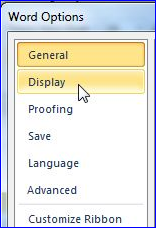 options-display suprimare pagina dans Trucuri de efect pentru un document perfect
