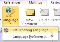 set-proofing-language linie orizontala