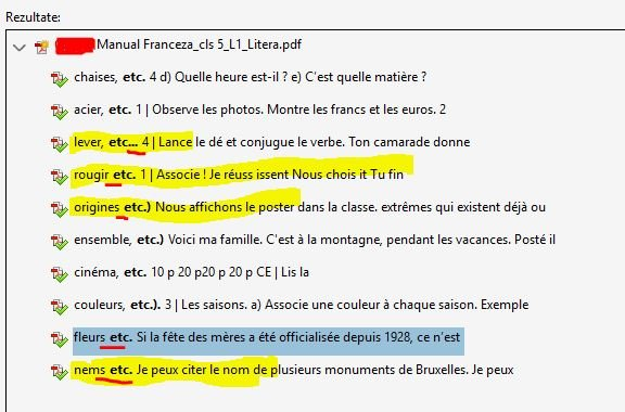 Limba franceză etc.
